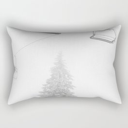Backcountry Skier // Fresh Powder Snow Mountain Ski Landscape Black and White Photography Vibes Art Rectangular Pillow