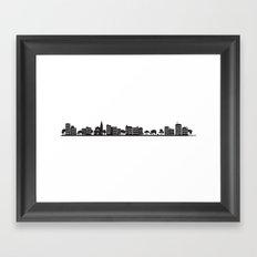 Park Slope Skyline (B&W) Framed Art Print