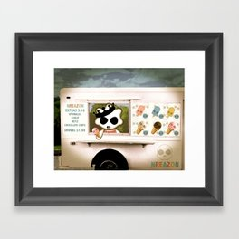 Ice Cream Delivery by NREAZON Framed Art Print