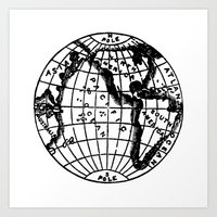 globe Art Prints featuring Globe by Gallymogger Print