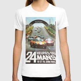 24hs Le Mans, 1966, vintage poster T-shirt