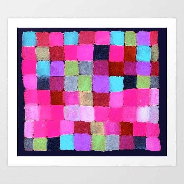 Colours passing through us Art Print