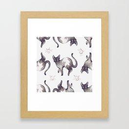 Pattern Cats Framed Art Print