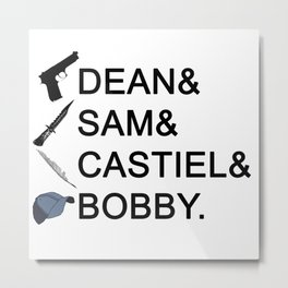 Supernatural Names Metal Print