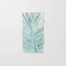 Abstract Palm Leaves | Mint Green Hand & Bath Towel