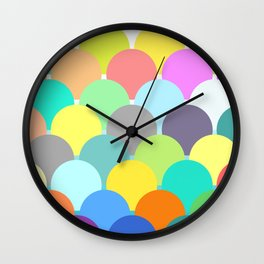 colorful circles Wall Clock