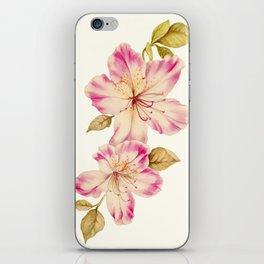 Azalea Watercolor Painting 2 iPhone Skin