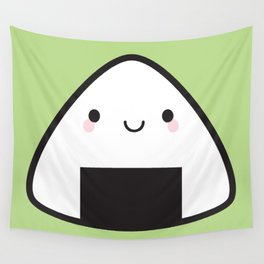 Kawaii Onigiri Rice Ball Wall Tapestry