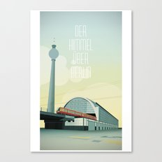 The sky over Berlin Canvas Print