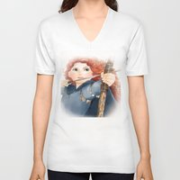 merida V-neck T-shirts featuring Merida  by Teddy Wade