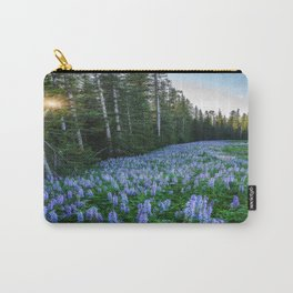 High Country Lupine - Purple Wildflowers in Montana Mountains Carry-All Pouch
