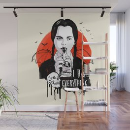 Wednesday The Addams family art Wall Mural