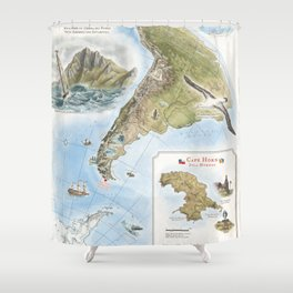 Cape Horn - Exploration AD 1616 Shower Curtain