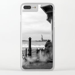 """The back of """"The Boat"""" Clear iPhone Case"""