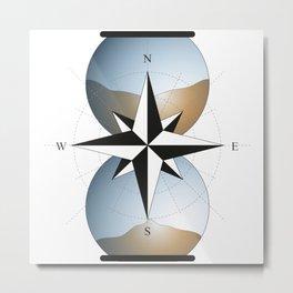 Desert hourglass Metal Print