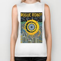 rogue Biker Tanks featuring Rogue Robot by Micke Nikander