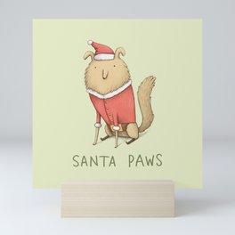 Santa Paws Mini Art Print