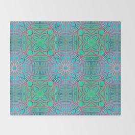 Pink Lotus Lattice Throw Blanket