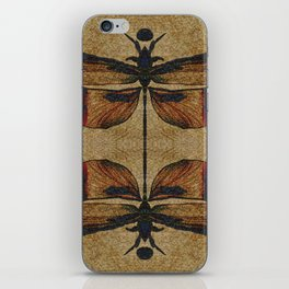 Dragonfly 2.0 Mirrored on Leather iPhone Skin