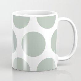Large Polka Dots: Neutral Green Coffee Mug