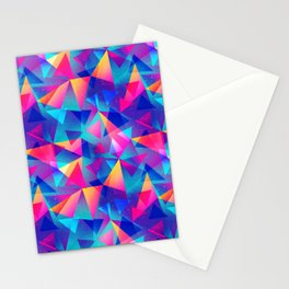 Rainbow Triangle Pattern Stationery Cards
