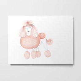 Weird poodles - Ginger dye Metal Print