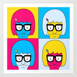 Tina Pop Art Art Print