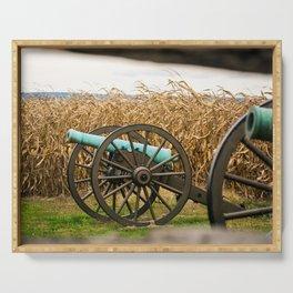 Cannon amongst the Corn Antietam National Battlefield Civil War Battleground Maryland Serving Tray