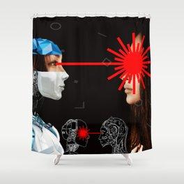 Laser Bot by GEN Z Shower Curtain
