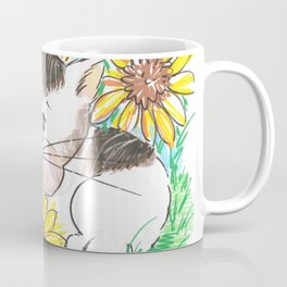 Marisol y los girasoles, the cat and the Sunflowers Coffee Mug