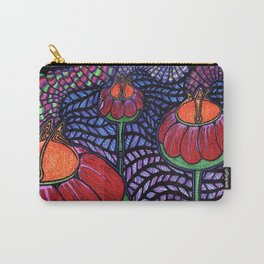 Orange Poppy Pollen Carry-All Pouch