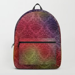 Colorful Damask Print Backpack
