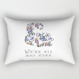 Alice floral designs - Cheshire cat all mad here Rectangular Pillow