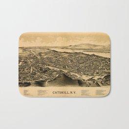 Map Of Catskill 1889 Bath Mat