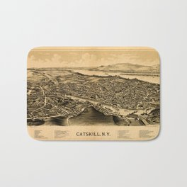 Map Of Catskill 1889 Bath Mat