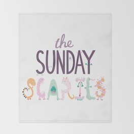 The Sunday Scaries Throw Blanket