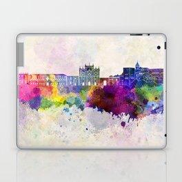 Granada skyline in watercolor background Laptop & iPad Skin