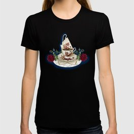 Vintage Rose Tea Cups T-shirt