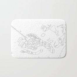 Venezia - City Map - Daniele Drigo Bath Mat