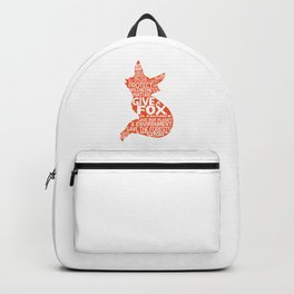 Give a Fox a Change Backpack