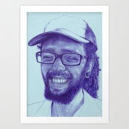 Kare-bear Art Print