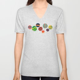 Sweet lollipop Unisex V-Neck