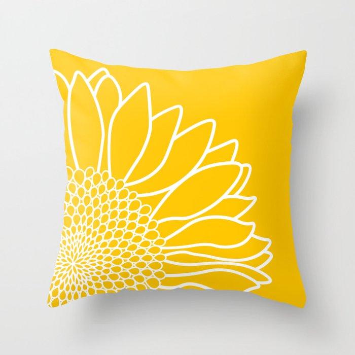 Sunflower Cheerfulness Throw Pillow