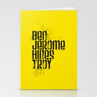 caleb troy Stationery Cards featuring Ben Jerome Hines Troy / Gold by Brian Walker