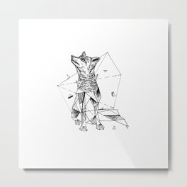 Geometric Season1:2 Fox Metal Print