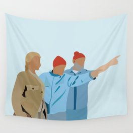 The Life Aquatic with Steve Zissou: Minimalist Poster Wall Tapestry