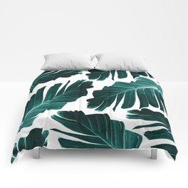 Tropical Banana Leaves Dream #1 #foliage #decor #art #society6 Comforters