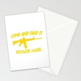 Come and Take It! Molon Labe! Gold in Greek. Stationery Cards