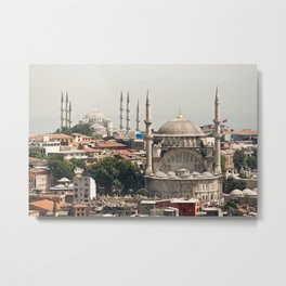 Daytime view of the mosques  in Istanbul  Metal Print