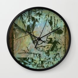 Private Language Decimated Wall Clock
